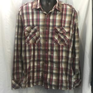 BKE Plaid Button Up Long Sleeve Shirt